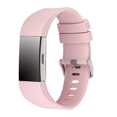 Charge 2 Band Replacement,Classic Silicone Band Accessories Adjustable Strap For Fitbit Charge 2 Heart Rate Fitness Wristband (Pink). These are classic replacement bands for Fitbit Charge 2,personalize your wristband by changing the color to match what you wear.(Fitbit not included). The interchangeable Fitbit accessory bands for Charge 2 are made of flexible and durable elastomer material with surgical-grade stainless steel buckle,which is adjustable.This product is suitable for Fitbit…