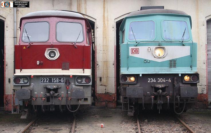 Тепловозы 232.158-6 и 234.304-4, Германия