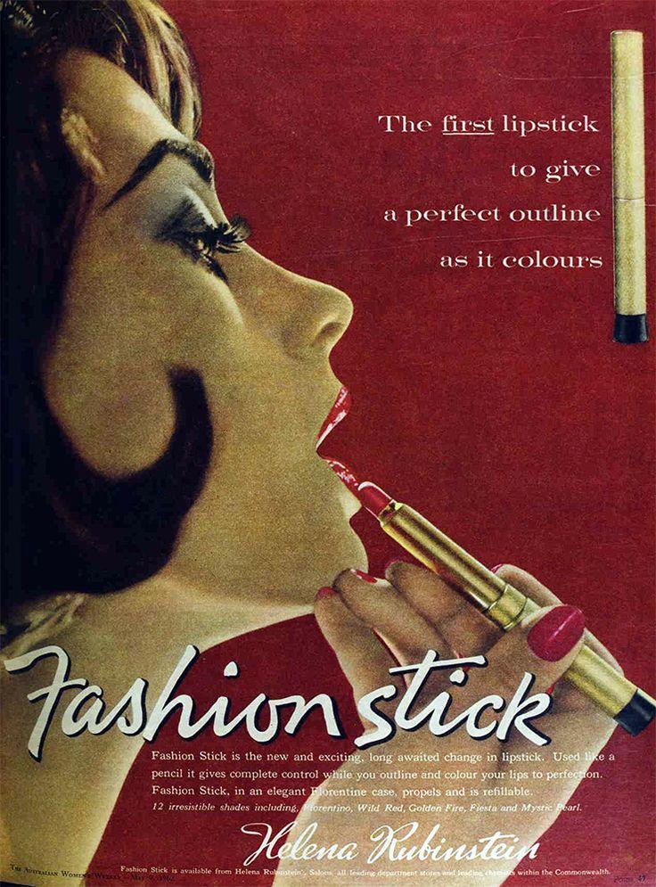 Fashion stick lipstick from helena rubinstein 1962 fashion
