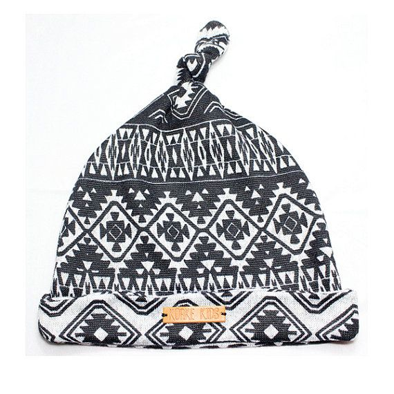 Baby Knot Hat Tribal Print H1001 by KorkeKids on Etsy
