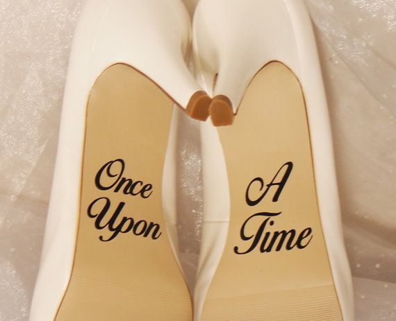 Once Upon A Time Wedding Shoe Decals, High Heel Decals, Shoe Decals for Wedding…