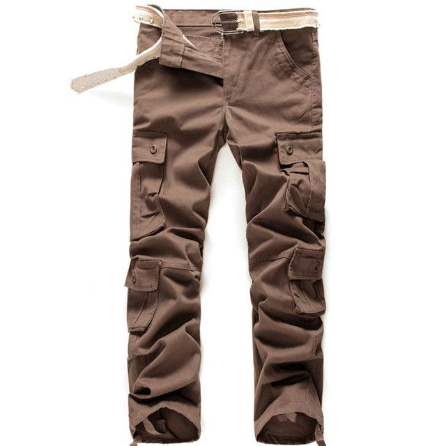 Plus Size High Quality Summer Style Khaki Joggers Mens Khaki Pants Pants Men Joggers Pants Cotton Long Trousers