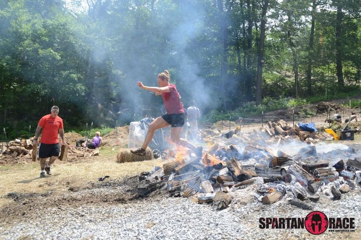 Jumpin' Fire at the Tri-State Spartan Race