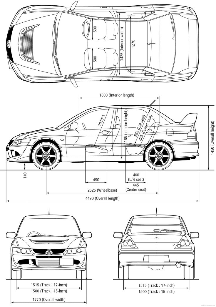 Mitsubishi    Lancer    Evo    8   Blueprint Database   Pinterest