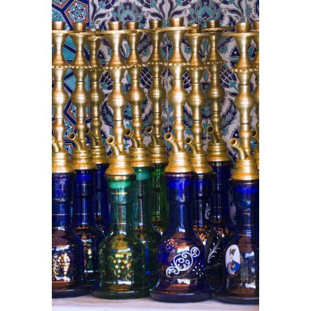 Istanbul Turkey Nargileh Water Pipes For Sale Canvas Art - Carson Ganci Design Pics (24 x 38)