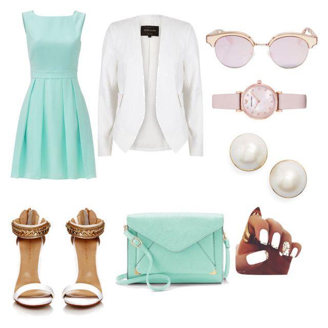 elegante y casuañ by samantha2nazaret on Polyvore featuring polyvore fashion style Kate Spade River Island Apt. 9 Emporio Armani Le Specs clothing