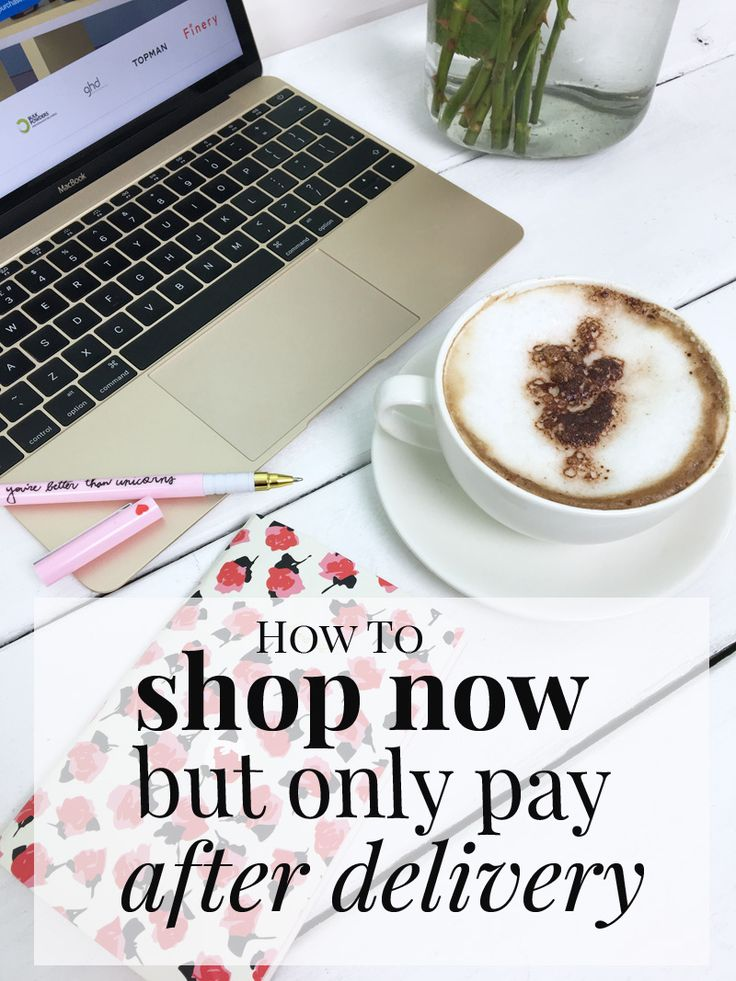 how to shop now but only pay after delivery