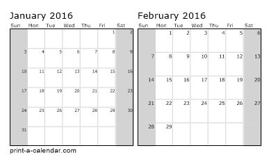 Make your own 2014, 2015, or 2016 printable calendar PDF.