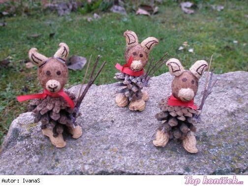 Čertíci z ořechů a šišky