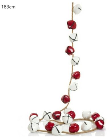Jingle Bells Garland 183cm red/white