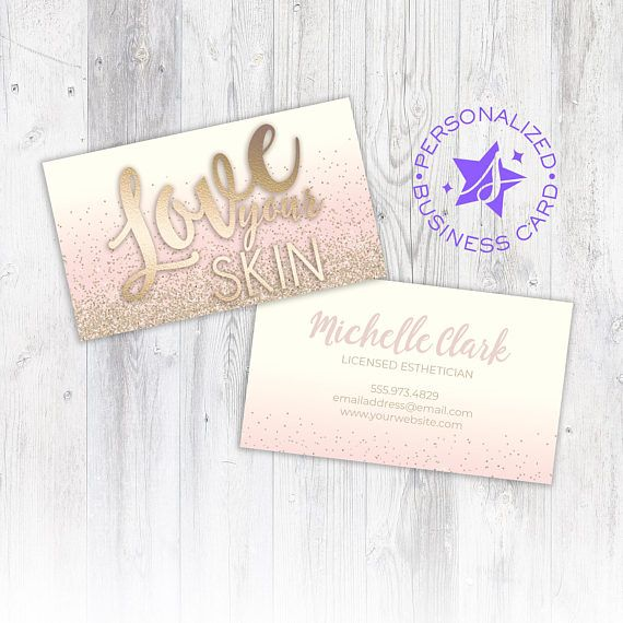 Licensed Esthetician Business Card Personalized