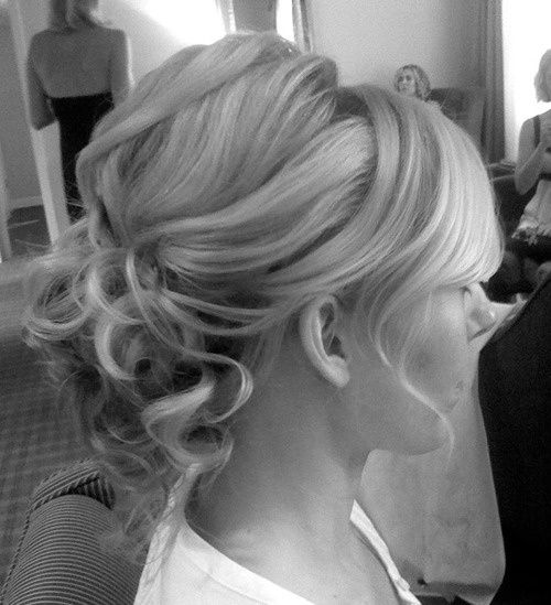 Hair idea for a wedding? Again, might work on short hair...
