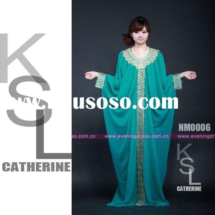 Chiffon New Fashion Baju Kaftan Dress Maroko Moroccan Design In Pakistan 2012
