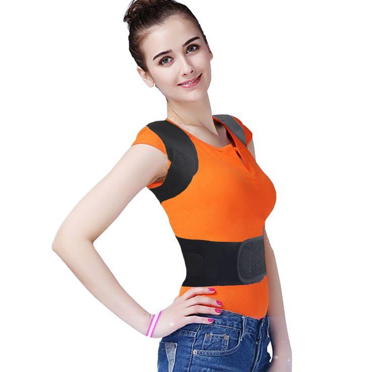 Adjustable Therapy Back Support Brace Belt Band Posture Shoulder Corrector Perfect Back Curve Hump Corset HealthCare #Affiliate