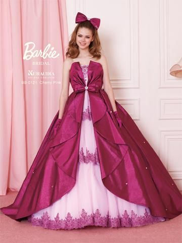 Barbie Bridal in cherry pink