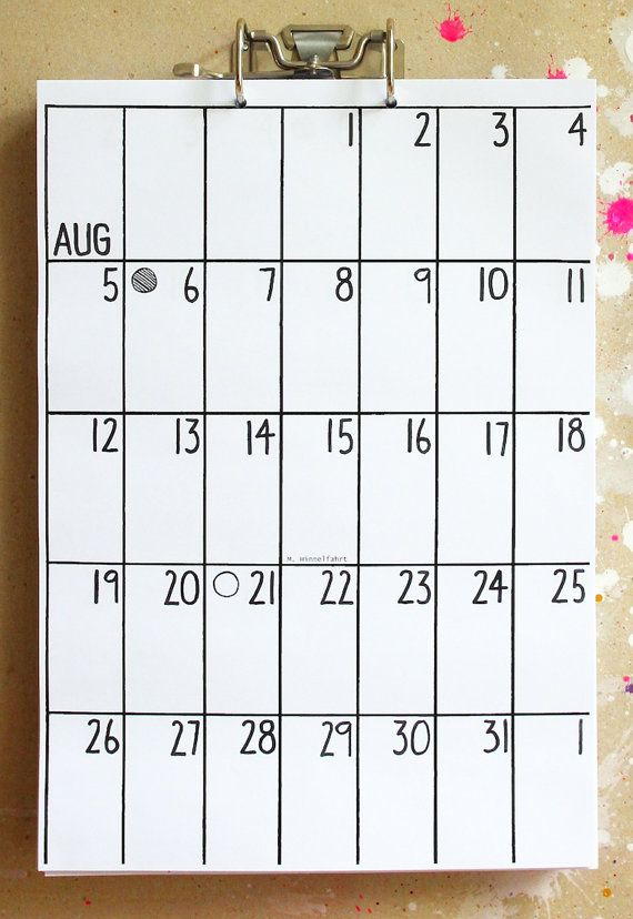 Calendario Sep 2016 Feb 2018 por hippieprojects2 en Etsy
