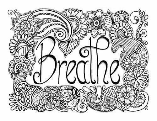 breathe adult coloring page with beautiful paisleys and flowers created by jennifer stay visit coloring pages bliss to see over 100 of jennifers designs
