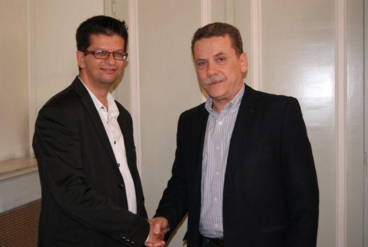 Συνάντηση του Γιώργου Γκίρνη (υποψηφίου), με τον Λάζαρο Μαλούτα. #ekloges2014, # kozani, #enothta, #maloutas, #enotita