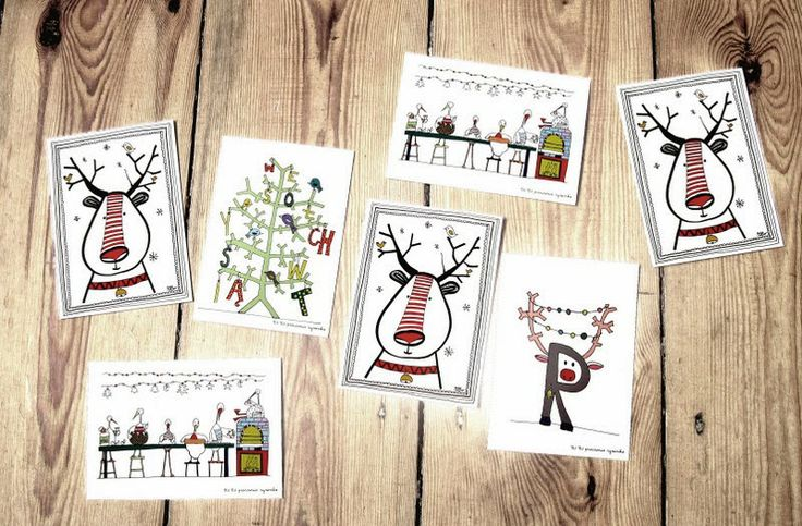 christmas cards by TIU TIU