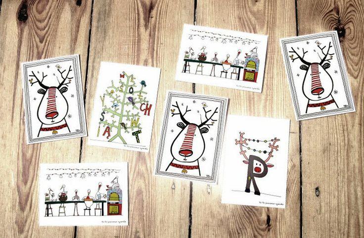 christmas cards by TIU TIU