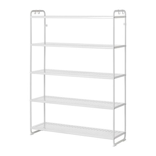MULIG Shelving unit IKEA Can also be used in bathrooms and other damp indoor areas. The shelves are durable, stain resistant and easy to clean.