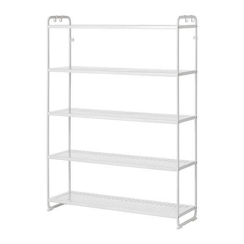 Badkamer Accessoires Rood ~ IKEA  MULIG, Stellingkast, 120x34x162 cm, wit, , Ook te gebruiken in