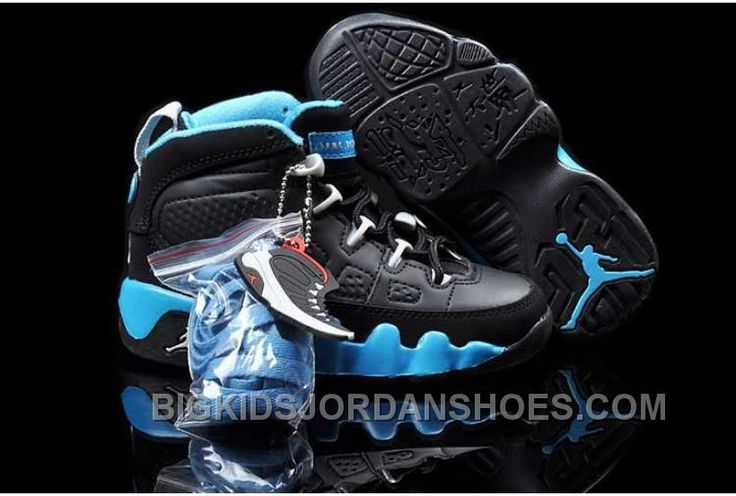 http://www.bigkidsjordanshoes.com/nike-air-jordan-9-kids-black-blue-shoes-online.html NIKE AIR JORDAN 9 KIDS BLACK BLUE SHOES ONLINE Only $84.29 , Free Shipping!