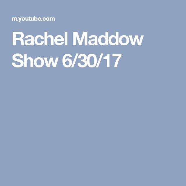 Rachel Maddow Show 6/30/17. (Why did they shut down the agency that ensures the security of our voting system?)