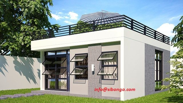 With roof deck energy efficient home pinterest home technology and the box for Home design philippines small area