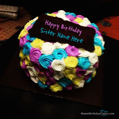 Cake Images With Name Preeti : 18 best images about Name Birthday Cakes For Sister on ...