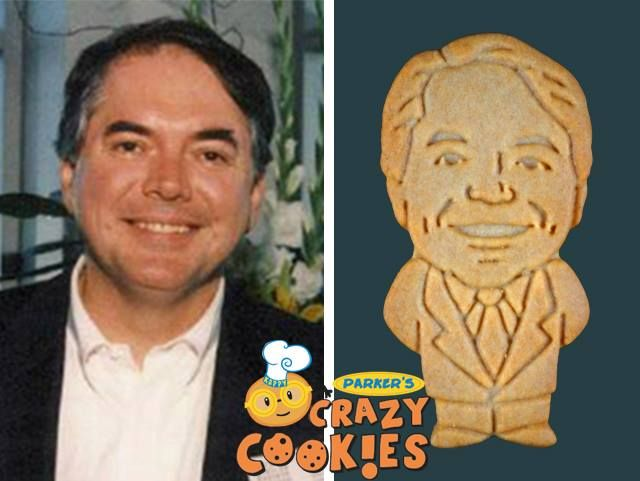 Corporate events are never dull when Parker's Crazy Cookies is invited to make custom cookies of the top brass. They are a delicious and creative way to add a spark of fun to your event!