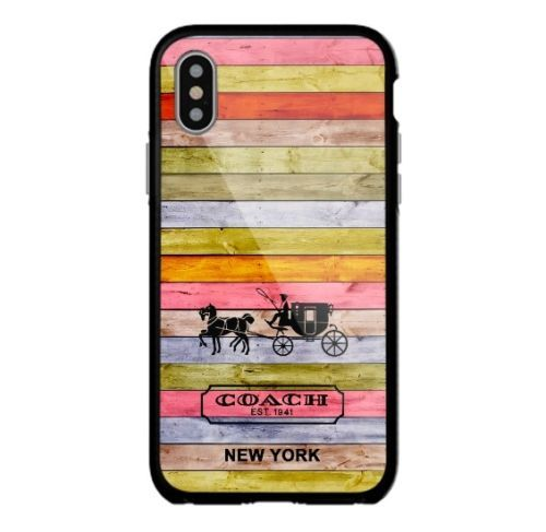 Coach-Cute-Color-Wood-For-iPhone-X-New-8-8-7-7-6-6-6s-6s-5-5s-Samsung-Case