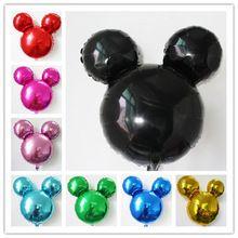 10 stks/partij mix pure kleur Mickey ballon cartoon minnie hoofd vorm opblaasbare helium ballon voor verjaardagsfeestje supplyMK021(China)