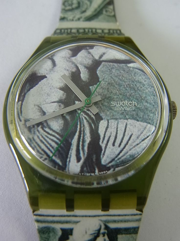 GG112 Swatch - 1991 Cupydus Marble Statue Swiss Made Authentic Working #Swatch #Fashion