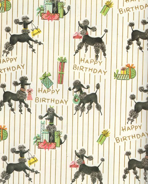 1960s wrapping paper design