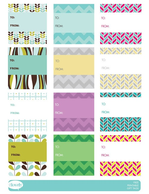 FREE printable Gift Tags by Oh So Lovely