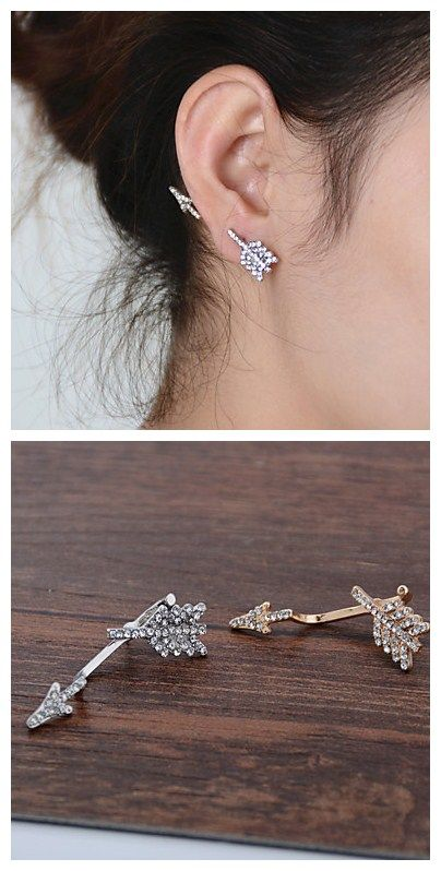 Arrow Pattern Single Stud Earrings, love this street style? Click to check more Cyber Monday great deals.