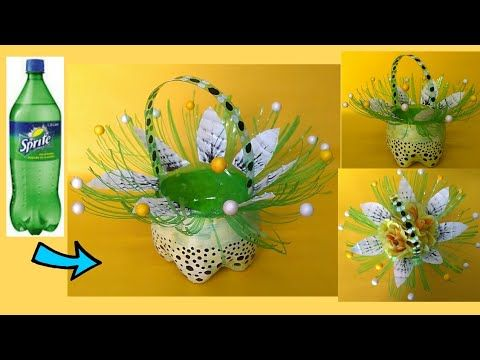 DIYll Waste plastic bottle basket l Best out of waste - YouTube