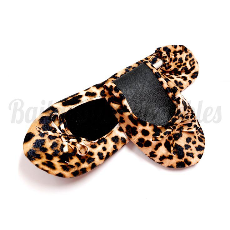 Bailarinas Plegables con estampado de leopardo