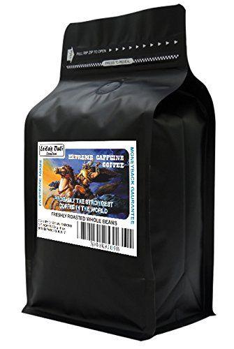 La caféine extrême – Café grains entiers – Probablement le plus fort du café dans le monde! (1 x 454g): Nommé Extreme Caffeine pour…