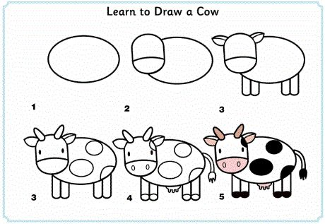 learn_to_draw_a_cow  http://www.activityvillage.co.uk/learn_to_draw_animals.htm