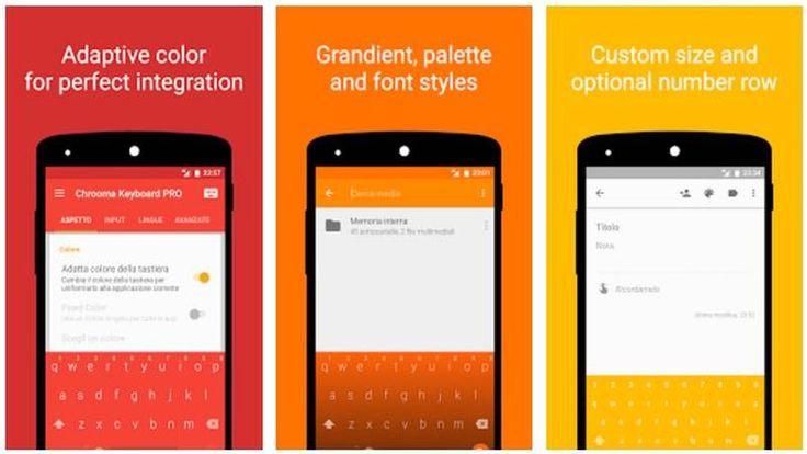 Chrooma Keyboard es un excelente teclado para Android con muchas características, conocido por cambiar de color según la app donde se utiliza.