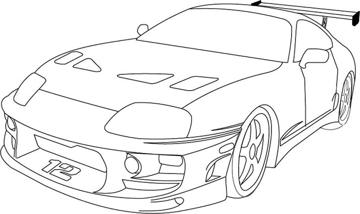 Furious Skyline Fast Nissan Gtr Drawing R34 And 4