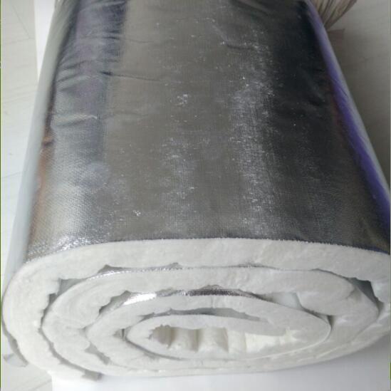 Ceramic fiber blanket with alumina foil