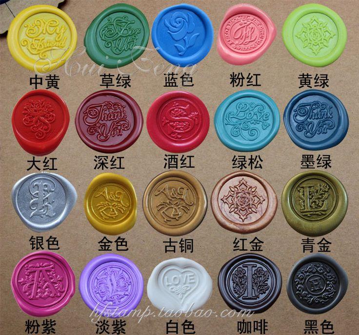 Selo 1xpcs multicolor da cera de selagem cera dedicada, tiras de cera de branding tinta carimbo de cera 24 cores disponíveis em Selos de Escritório & material escolar no AliExpress.com | Alibaba Group