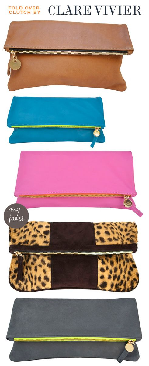 so loving this Fold Over Clutch by Clare Vivier...it comes in sooooooooo many colors :)