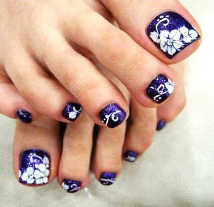 Image result for White and bejeweled toe nailart