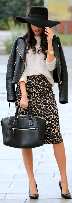 Camel Leo Pencil Midi Skirt by Styleandblog.com