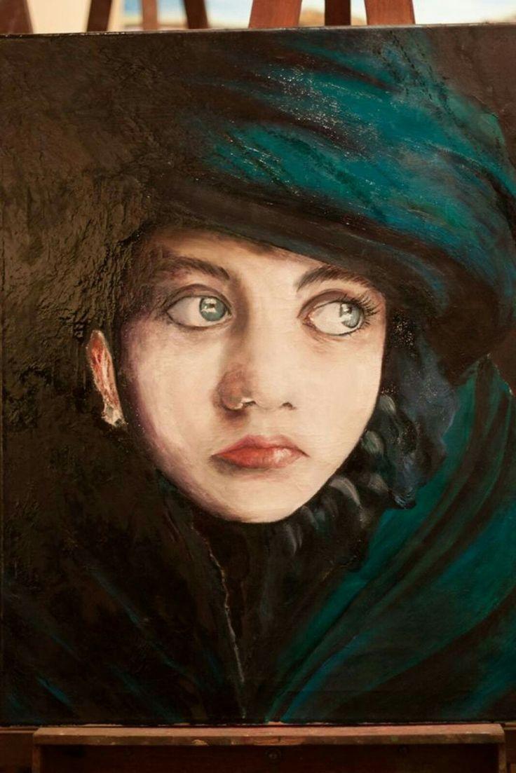 Niña #miafirenze #niña #oleo #pintura #painting #girl