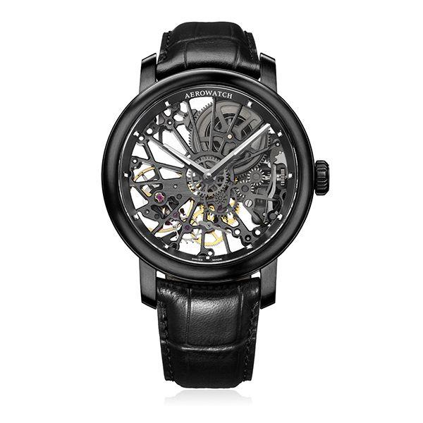 Zegarek Aerowatch Renaissance Big Mechanical Skeleton 50931 NO07 5529 - cena - 9599.00 zł